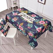 Frische Gartentischdecke,Tuch Leinen Runde Tisch Restaurant Rechteckige Tischdecke,Wohnzimmer Couchtisch Tv-schrank Staubdecke Tuch-B 100x140cm(39x55inch)