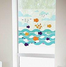 Frische Glas Aufkleber der frühen Kindheit Unterrichtsraum transparente Fenster und Türen wand Aufkleber, 8.6c Mx8
