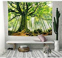 Frische Grün Baum des Lebens Wandteppich Wald im