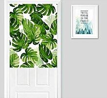 Frische Grün Palme Blätter Druck Tür Vorhang