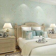 Frische Hirtenblüten Vliesstoffe Tapete Schlafzimmer Wohnzimmer 10m * 0.53m GT2240 , Brown