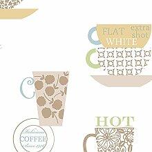 Frische Küche Tassen Kaffee-Tapete Mehrfarbig Galerie–fk34426