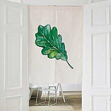 Frische Pflanze Stil Stoff Türvorhang, Baumwolle Leinen Half Door Vorhang Dekorative Partition - für Hauseingang Dekoration, Schlafzimmer, Wohnzimmer, Zimmer, Küche (6 Arten verfügbar) , style 1 , 80x90cm