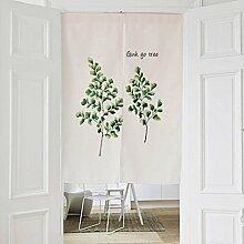 Frische Pflanze Stil Stoff Türvorhang, Baumwolle Leinen Half Door Vorhang Dekorative Partition - für Hauseingang Dekoration, Schlafzimmer, Wohnzimmer, Zimmer, Küche (6 Arten verfügbar) , style 4 , 85x120cm
