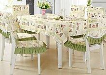 Frische Tischtuch / Stuhlabdeckung Kissen zurück Set , tea table cloth 110*160cm