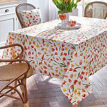Frische Tulpen-Tischdecke in farbenfroher