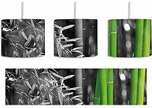 frischer Bambus schwarz/weiß inkl. Lampenfassung