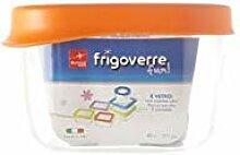 Frischhaltedose Frigoverre Fun 13x10cm Glas Orange