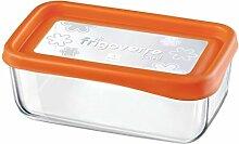 Frischhaltedose Frigoverre Fun 21x13cm Glas Orange