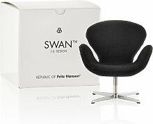 Fritz Hansen - Miniatur Schwan Sessel, schwarz