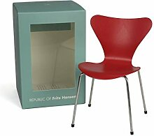 Fritz Hansen - Miniatur Serie 7 Stuhl, Opium red