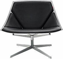 Fritz Hansen - Space Sessel, Leder schwarz, ohne
