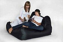 Fritz Sitzsack 'Big Chair', befüllt, Indoor/Outdoor, Größe 110cm x 120cm x 65cm, Farbe Schwarz