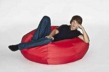 Fritz Sitzsack 'Donut', befüllt, Indoor/Outdoor, Durchmesser 110 cm, Farbe Ro