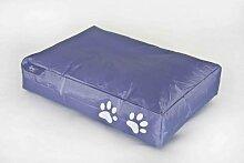 Fritz Sitzsack Dog Bed für Hunde, gefüllt, Größe 70 x 100 x 20 cm, Farbe lila