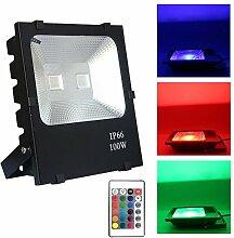 FROADP 100W RGB Farbwechsel LED Außen Strahler