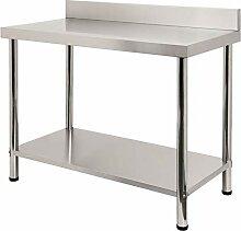 FROADP 100x60x85cm Küche Tisch Edelstahl