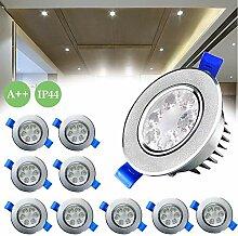 Froadp 10x3W LED Einbauleuchten Schwenkbar