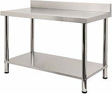 FROADP 120x60x85cm Küche Tisch Edelstahl