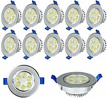 Froadp 12x3W LED Einbauleuchten Schwenkbar