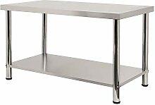 FROADP 150x60x85cm Küche Tisch Edelstahl
