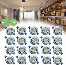 Froadp 20x3W LED Einbauleuchten Schwenkbar