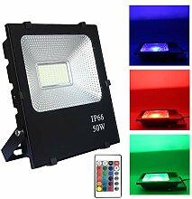 FROADP 50W RGB Farbwechsel LED Außen Strahler mit