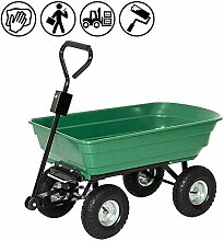 Froadp Handwagen Gartenkarre Kunststoff Kippwagen