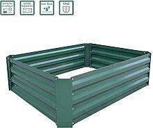 FROADP Hochbeet 120x90x30 cm verzinkt Stahl