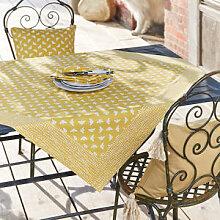 Fröhliche Tischdecke mit fleißigen Bienen