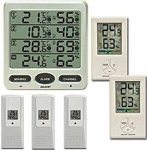 froggit Funk Thermometer FT0073 mit 5 Funksensoren
