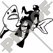 FROGMAN & SHARK Scuba Taucher JAWS 170mm Auto &