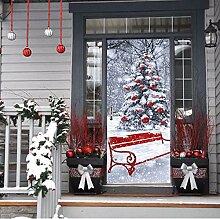 Frohe Weihnachten Baum Dekorative Tür Aufkleber