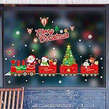Frohe Weihnachten Cartoon Mann Fenster Aufkleber
