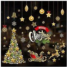 Frohe Weihnachten Cartoon Weihnachtsaufkleber