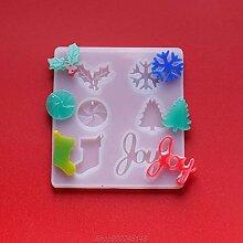Frohe Weihnachten Harz Kristall Epoxy Form