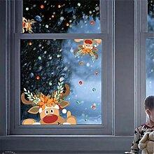 Frohe Weihnachten Wandaufkleber Fenster Glas