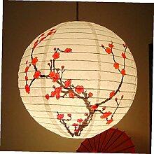 Froiny 35cm Runde Papierlaternen Plum Blossom