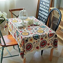 Frolahouse Hohe Qualität Waschbar Baumwolle Elegante Blumen Design Rechteck Tischdecke Abendessen Picknicktisch Tuch Dekoration Sortierte Größe