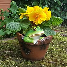 Frosch als Gartendeko Gartenfigur Pflanztopf Schuh Blumentopf Übertopf Frog Tiere Wildlife Deko Figur