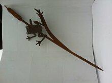Frosch an Schilfkolben hängend Gr. III der Große