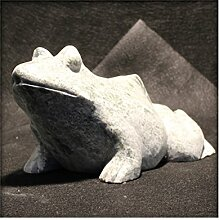 Frosch aus Marmor Gartendeko Skulptur Figur Garten