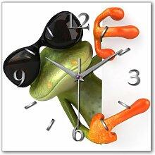 Frosch Cool Designer Funk Wanduhr Funkuhr modernes Design * Made in Germany* WA081F
