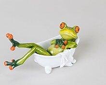 Frosch Deko Figur in Badewanne - witzige