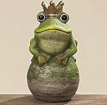 Frosch Froschkönig Terrakotta Deko Gartendeko Türdeko