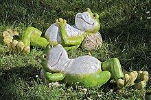 Frosch grün Magnesia Deko Gartendeko Türdeko Stückpreis L 48 cm