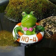 Frosch im Schwimmring orange