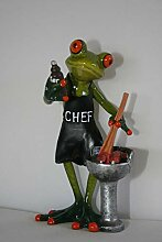 Frosch mit Grill, hellgrün, ca.16 x 7 cm