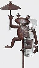 Frosch- Regenmesser aus Metall, 117,5 cm,