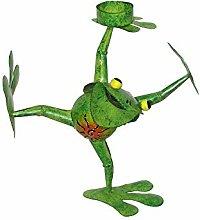 Frosch Teelichthalter Froschfigur Gartenfigur